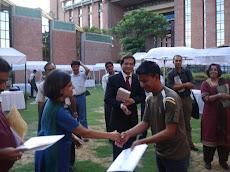 Receiving the First Media Fellowship Award  from Sunita Narian, Director, CSE, New Delhi 28.08.2009