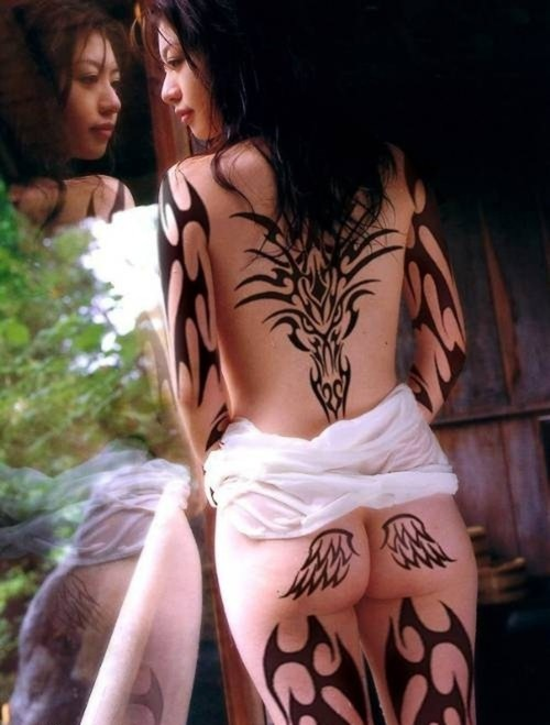 tribal tattoos pictures. Japanese Tribal Tattoo.