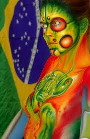 Brazilian Festival Body Painting