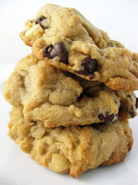 Chunky Peanut, Chocolate Chip, and Cinnamon Cookies | A Hint of Honey
