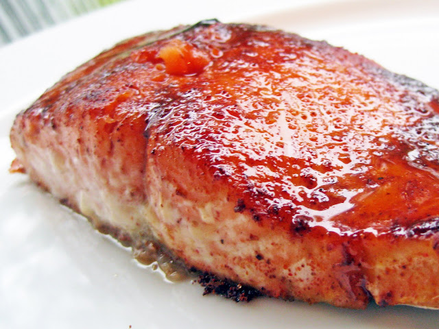 Maple-Ancho Grilled Salmon | A Hint of Honey