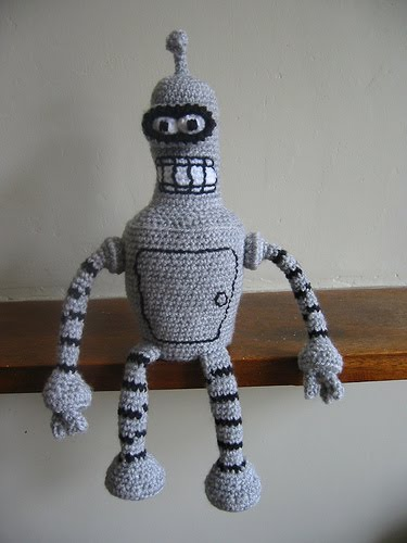 Amigurumi Robot Crochet Patterns : 2000 Free Amigurumi Patterns: Bender from Futurama