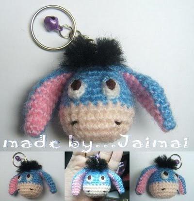 Amigurumi Keyring Pattern : 2000 Free Amigurumi Patterns: Blue Donkey Keychain