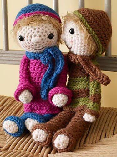 Free Amigurumi Boy Doll Patterns : 2000 Free Amigurumi Patterns: Shelly Girl Doll and Bryan ...