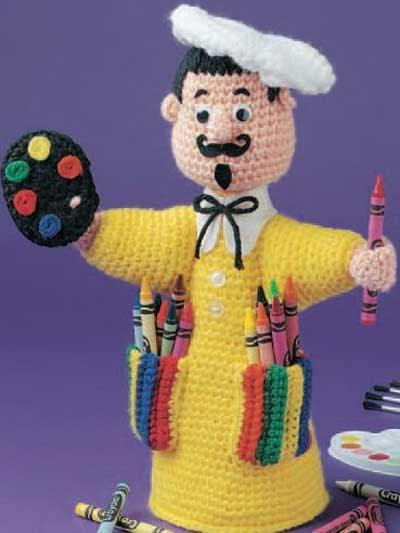 Amigurumi Bunny Pencil Holder : 2000 Free Amigurumi Patterns: Little Artist Crayon Keeper