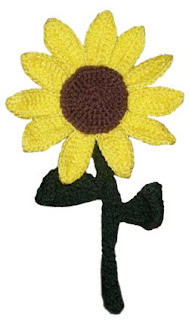 Crochet Memories, Free Sunflower Fridgie pattern