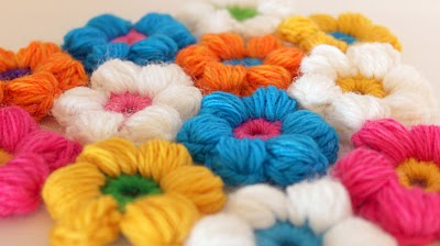 Free Amigurumi Monkey Crochet Patterns : 2000 Free Amigurumi Patterns: 6 Petal Puff Stitch Flower ...