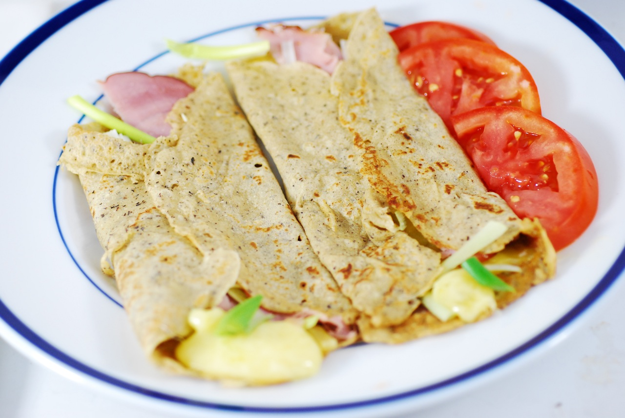 Thin savory buckwheat crepes, filled with homemade Gruyere, Vermont ...