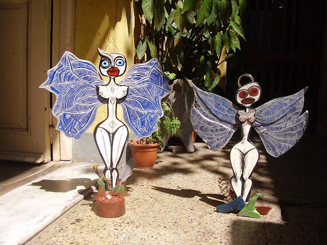 angeles en madera-