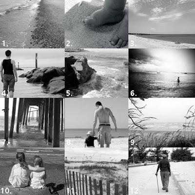 black and white beach photos. A Black and White Beach