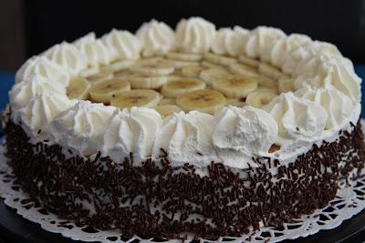choklad och banantårta