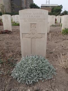 Grave of John Jabez Pask, Alexandria (Hadra) War Memorial Cemetery, Egypt