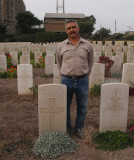 Commonwealth War Grave's gardener at the Alexandria (Hadra) War Memorial Cemetery, Egypt