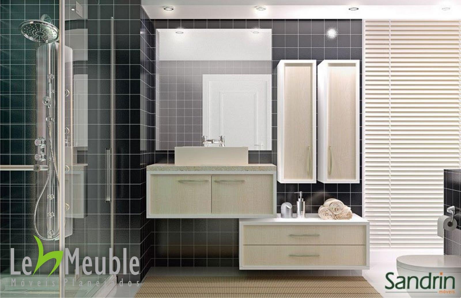 Imagens de #594F3F Banheiro corpo branco e frentes branco e preto. 1600x1034 px 3726 Banheiros Planejados Preto E Branco
