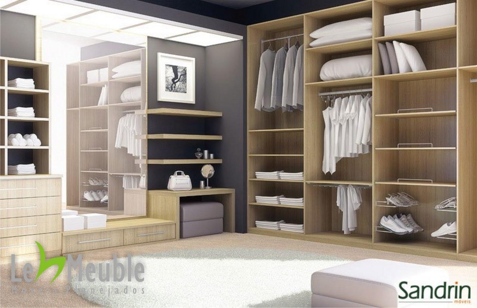 Le meuble projetos de interiores cat logo sandrin closet for Catalogo de closets