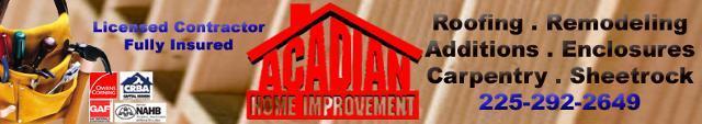 Acadian Plumbing.com Baton Rouge Water Heater Bathtub Shower replace