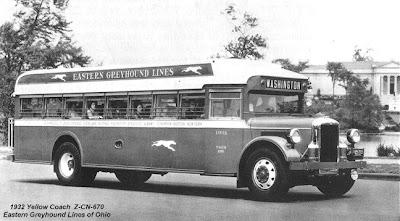 Retro Buses Yellow Coach