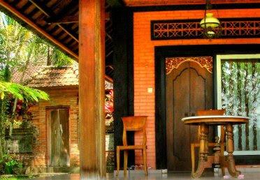 Terras van Villa Sanggingan, boutique hotel in Ubud Bali