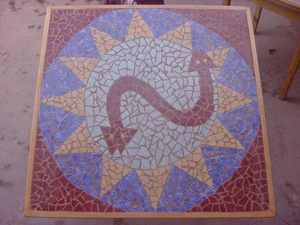 """Mesa mosaico """"serpiente"""""""