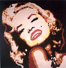 Marilyn Monroe - terra sobre mdf