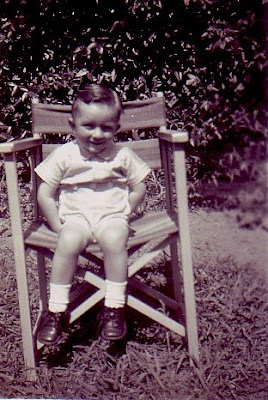 Barry in a deckchair at his paternal grandmother's (1948)