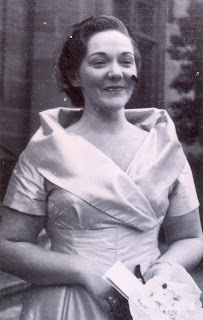 Sylvia on her wedding day in 1960 aged 32