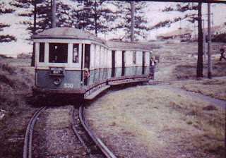 This is an E class tram coming through The Glen half way down the hill. The trees are still there.