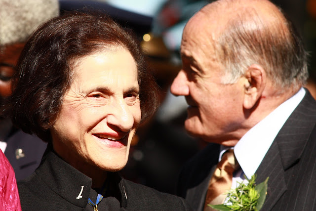 The Governor of NSW, Professor Marie Bashir and her husband, Sir Nicholas Shehadie