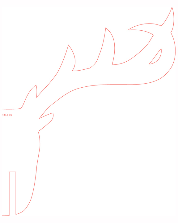 Reindeer head template with out antlers search results for Rudolph antlers template