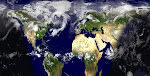 Mapa mundi de la Tierra, en tiempo real
