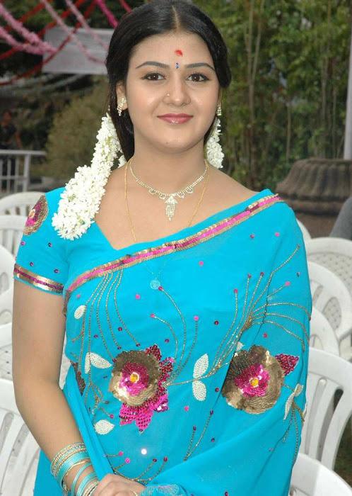 tollywood jyothi krishna in blue saree cute stills