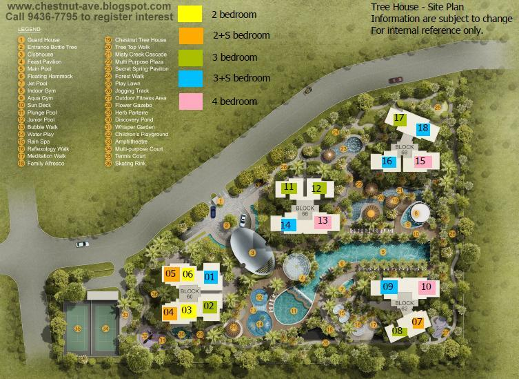 104 Tree House Floor Plan Chestnut Avenue By Cdl Along Upper Bukit Timah Chestnut Avenue Site And Available Now
