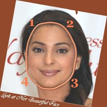 Emma Watson Face Shape. Then what is Juhi Chawla face