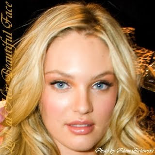 Candice Swanepoel Distinctive Face Shape