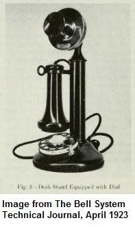 Photo: An early dial telephone