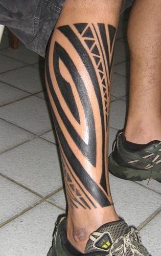 polynesian style tattoo