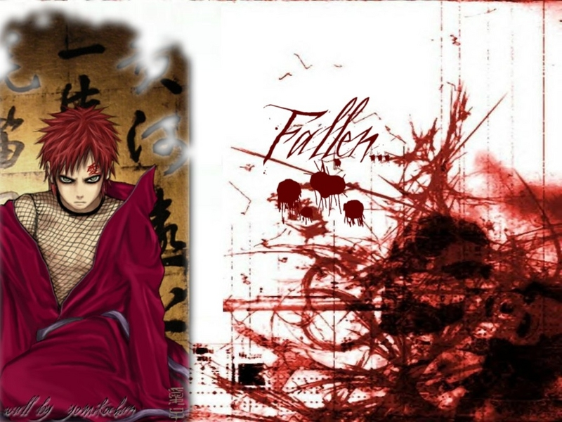 bloody wallpaper. naruto wallpaper bloody gaara