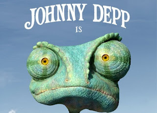 Johnny Depp is Rango animated movie poster