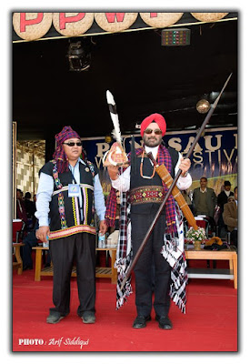 H.E. Gen. (Retd.) J.J. Singh in full Tangsa Traditional attires