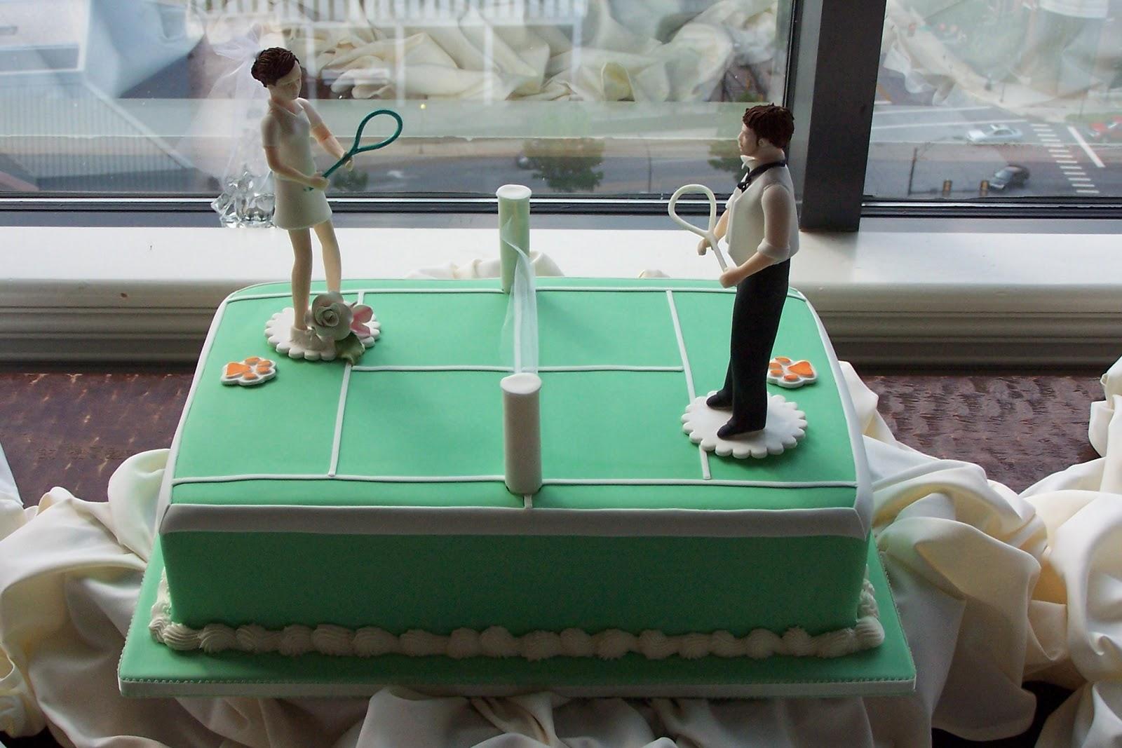 Old World Cake Co Llc Tennis Anyone Custom Bride Groom