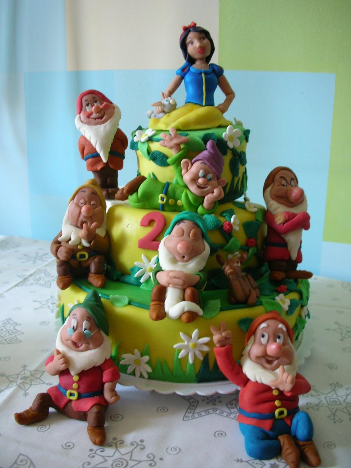 Zuccheri amo torta biancaneve e i sette nani