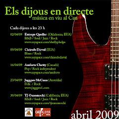 Els Dijous al Cau - Abril 2009