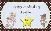 Crafty Cardmakers Top 3