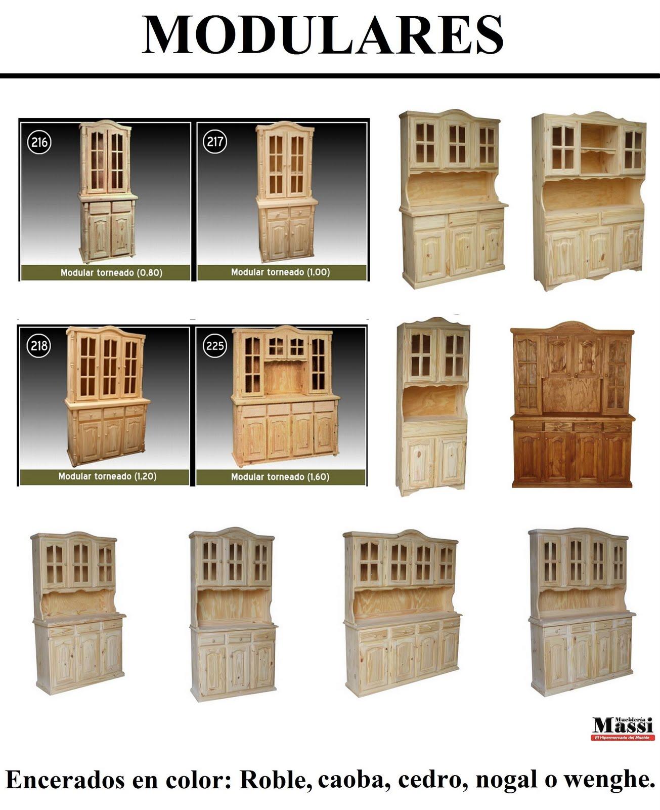 Muebles de pino massi modulares r sticos de muebler a massi - Muebles de pino rusticos ...