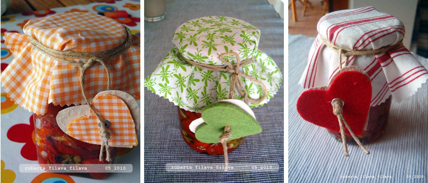 Roberta filava filava crochet cucina barattoli mania - Come decorare un barattolo ...