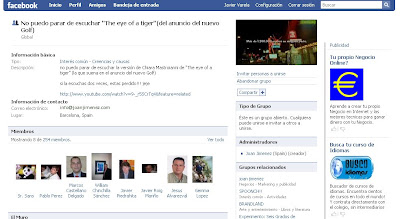 Facebook Campaña Volkswagen Golf VI