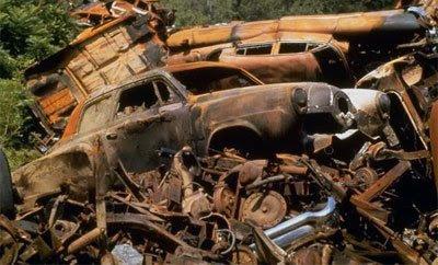 Junkyard Rusting Cars