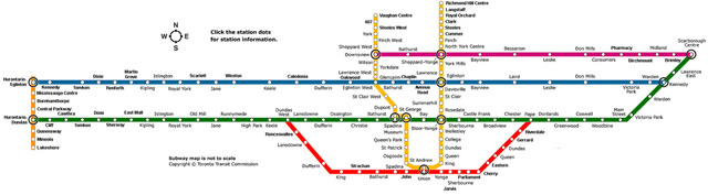 TTC Fantasy Map Toronto Subway