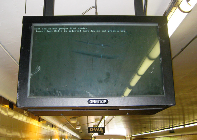Boot Failure at Keele Station