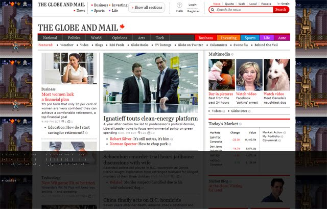 Globe and Mail Contra Hack